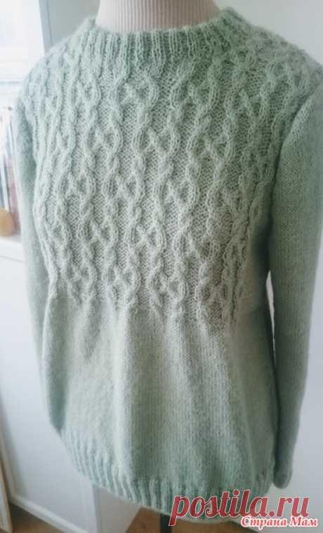 . Пуловер спицами Клара - Вязание - Страна Мам