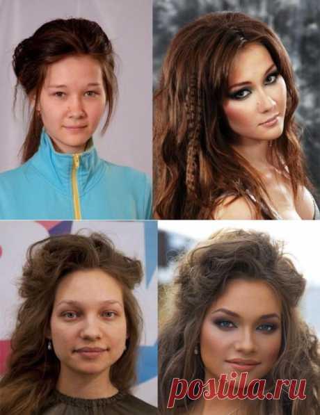 (+1) тема - На что способна сила макияжа... (ФОТО) | САМЫЙ СОК!