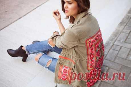 """""""Вышитая куртка"""" (DIY) Модная одежда и дизайн интерьера своими руками"""