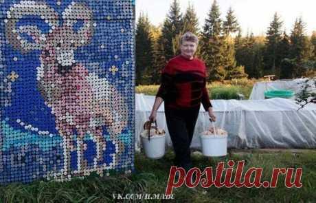Ольга Костина, жительница деревни Камарчага, при украшении дома использовала более 30 000 ...