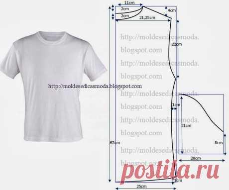 Мужская тениска. Шить легко и просто