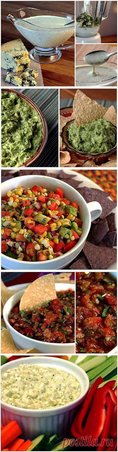 Вкусные и полезные соусы для вечеринки.