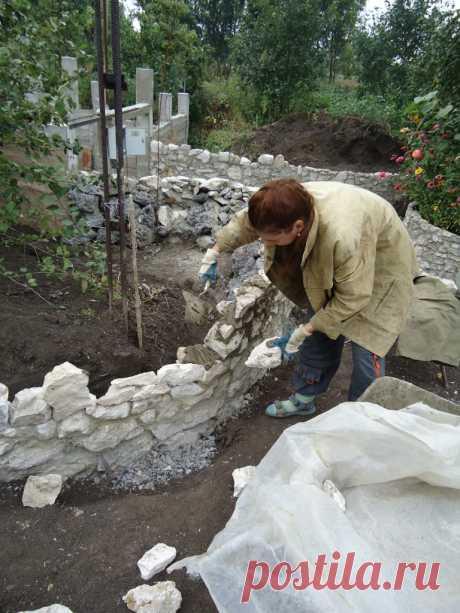 Каменная кладка в оформлении участка — 6 соток