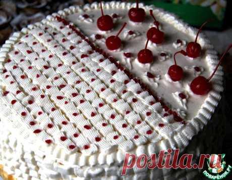 Бисквитный торт с вишневыми прослойками - несложный в исполнении, но очень вкусный и нарядный