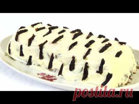 "La ensalada de \""Berezka\"". poshagovyy el vídeo la receta del plato original de fiesta."