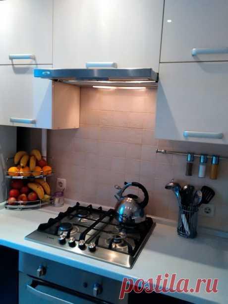 Кухня-малышка, в которой все на своих местах, и всему - свое место