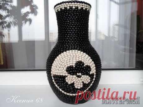Декорируем вазу фасолью — Сделай сам, идеи для творчества - DIY Ideas