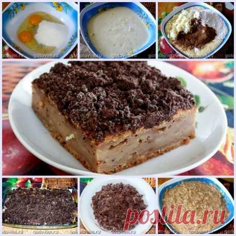 Пирог с грушами и шоколадной крошкой штрейзель
