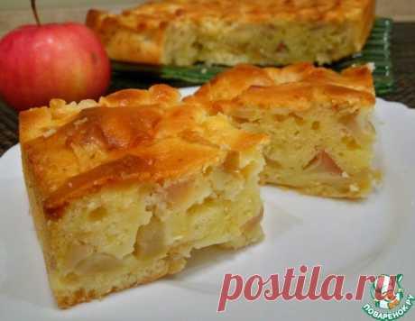 Мега яблочный пирог на кефире – кулинарный рецепт