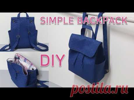 DIY simple backpack/An easy way to make a backpack/백팩 만들기/가방만들기 [JSDAILY]