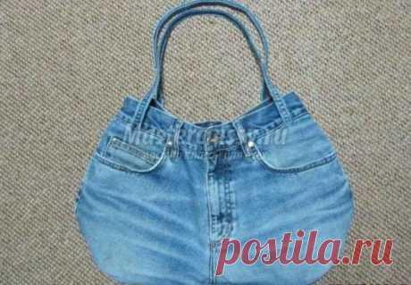 Сумка своими руками из старых джинсов. Мастер класс  / Шитье / Шитье одежды