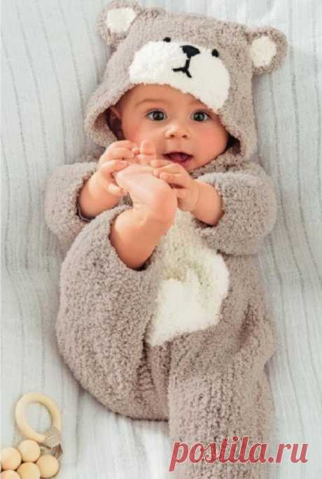 Вяжем комбинезон для малыша | Вяжем детям