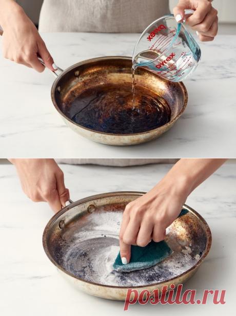 Как восстановить подгоревшую сковороду. | СОВЕТОФФ | Яндекс Дзен