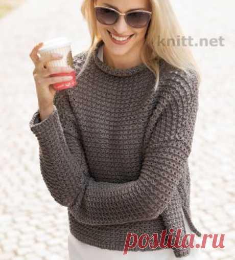Вязаный пуловер с простым узором - Must Have этого сезона: классная пряжа, непринужденный узор и безразмерный силуэт- вот как получить ультрамодный пуловер.