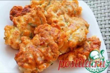 Куриные оладьи с сыром - кулинарный рецепт