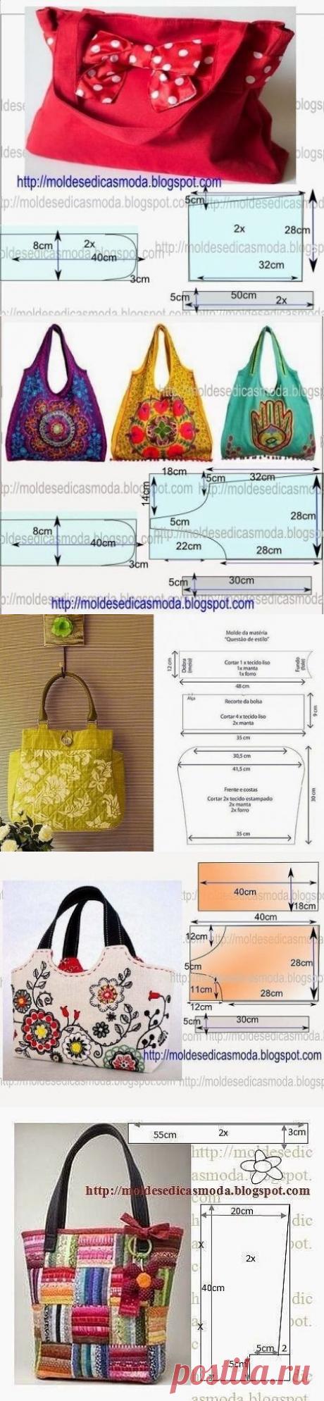 Подборка выкроек сумок — Сделай сам, идеи для творчества - DIY Ideas