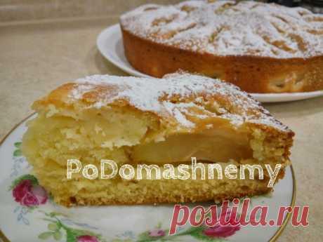Нежный и Мягкий Пирог на Кефире с Яблоками за 10 минут в духовке — Кулинарная книга - рецепты с фото