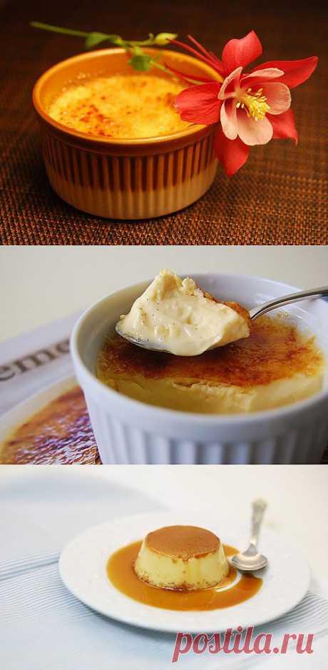 Крем-брюле: как приготовить знаменитый десерт дома? / Простые рецепты