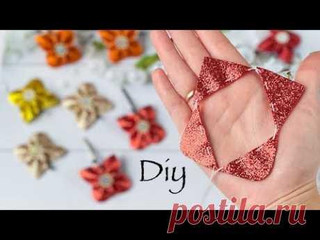Бабочки из глиттерного фоамирана DIY Butterfly Hair Bows / Glitter Foam Sheet Craft