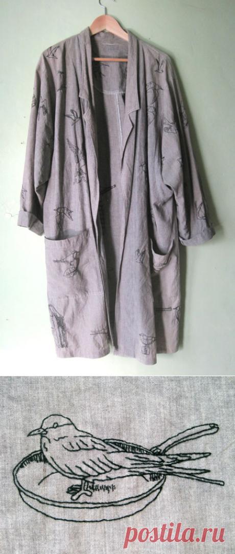 Идея переделки рубашки, блузона или платья и т.д.