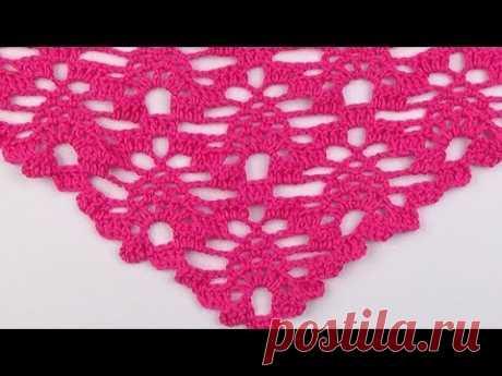 Crochet: Punto Piña en V # 25