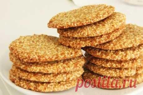 Как приготовить самое вкусное кунжутное печенье, которое я пробовала - рецепт, ингридиенты и фотографии