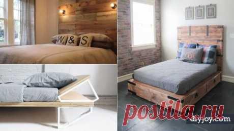 Ваша спальня нуждается в одном из этих 34 DIY кроватей