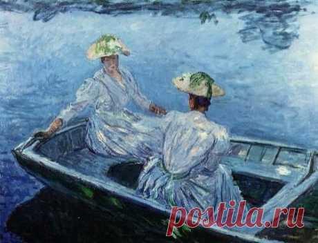 The Blue Row Boat ~ Claude Monet