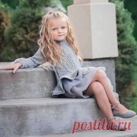 Платье свитер для девочек, осенне зимнее платье принцессы с пачкой для девочек, теплый пуловер с длинным рукавом, вязаный свитер, детская одежда