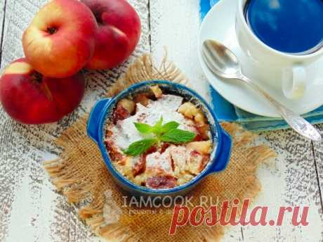 Американский персиковый коблер, рецепт с фото