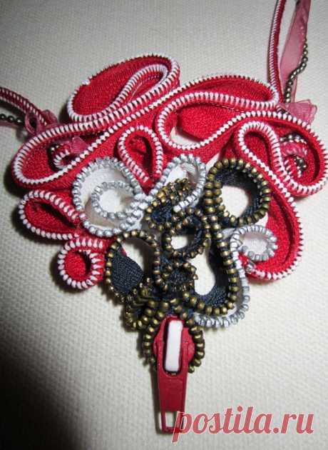 Молниевое сердце (мастер-класс) / Украшения и бижутерия / Модный сайт о стильной переделке одежды и интерьера