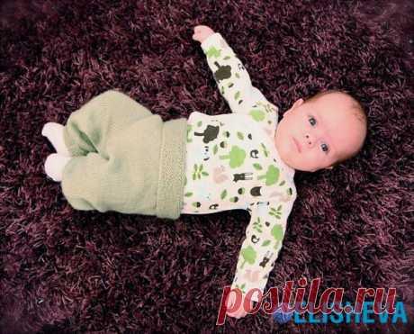Штаники для малыша вязаные спицами