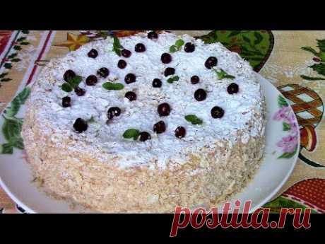 Вкусный торт Наполеон для праздничного чаепития! Как приготовить торт Наполеон быстро.