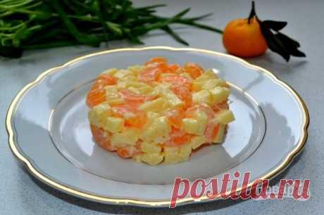"""Салат """"Мандариновый шок"""" - пошаговый рецепт с фото на Повар.ру"""