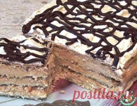 """Торт """"Воздушный Сникерс"""" – кулинарный рецепт"""