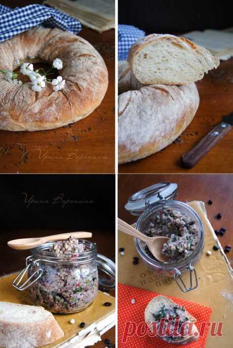 Заметки на кухонных занавесках - Любимое. Хлеб и паштет.