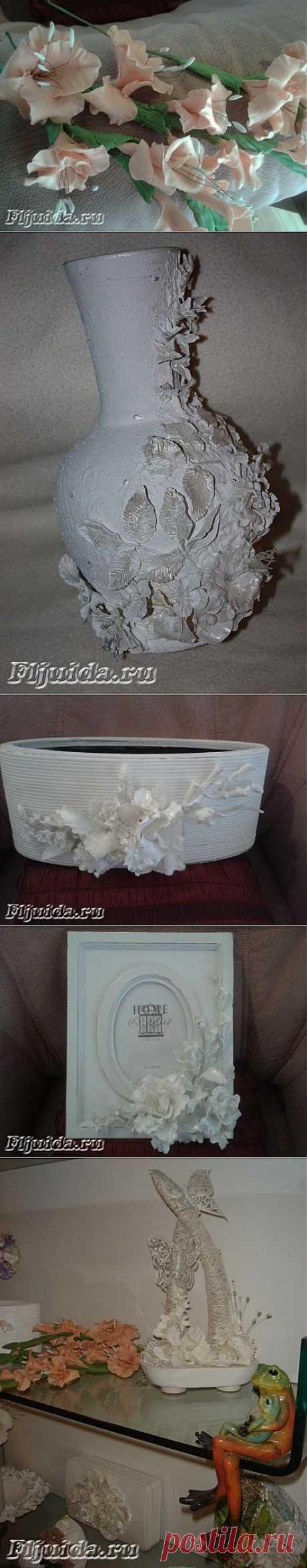 Декор предметов холодным фарфором.   Подружки