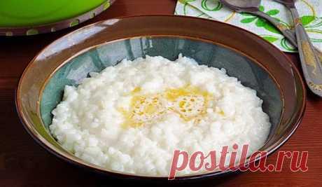 Сахарная рисовая каша на молоке родом из детства: весь секрет в паровой бане! Правильная молочная каша - отличное начало дня!