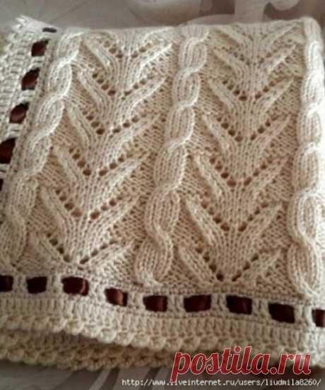 Красивый узор для вязания / Необычные поделки