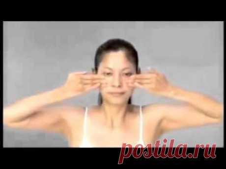 Японский контурный массаж лица.