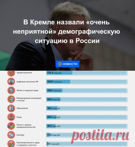 В Кремле назвали очень неприятной демографическую ситуацию в России - Новости Mail.ru