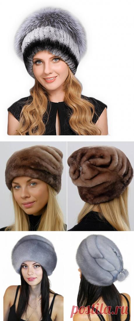 Купить зимнюю шапку, продажа женских меховых шапок