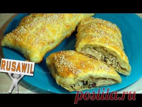 Fish (mackerel, salmon, hake, pollock, the cod) baked in puff pastry. Recipe of preparation