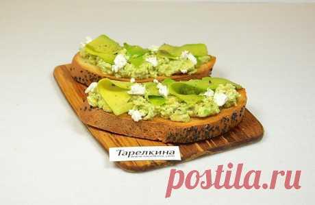 Бутерброд с авокадо и фетой рецепт от Тарелкиной. Отличный вариант быстро и вкусно перекусить. Замечательное сочетание ингредиентов, попробуйте обязательно!