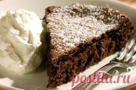 Шоколадный пирог без муки - Повар.ру