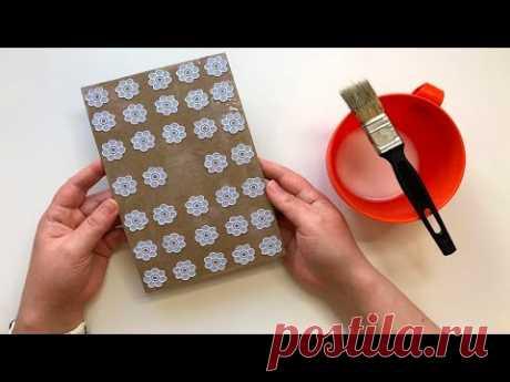 Идея декора блокнота своими руками