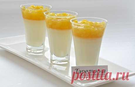 Панна-Котта (панакота) рецепт от Тарелкиной.  Нежная панна-котта с ванильным вкусом, дополненная ананасовой сальсой, что может быть вкуснее!