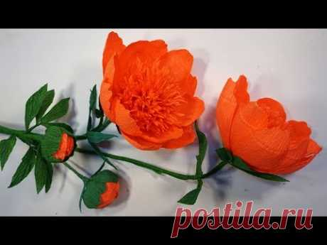 Cómo hacer flores gigantes de papel crepe (muy facil). Manualidad para regalar el día de las madres