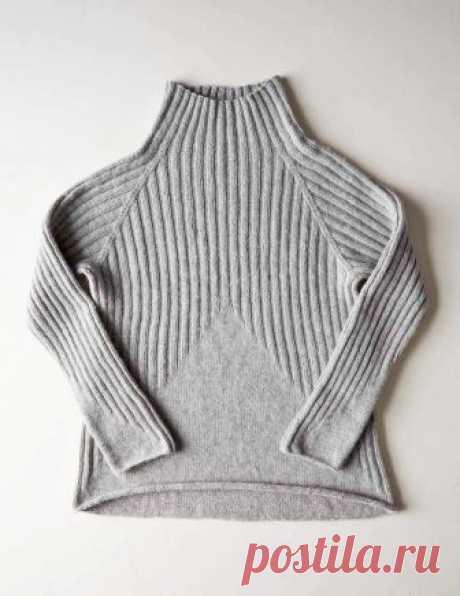 Бесшовный пуловер резинкой Peaks - Вяжи.ру