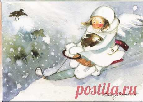 Нежно-новогодние милые акварели Minna Immonen - СЧАСТЬЕ ЕСТЬ! Философия. Мудрость. Книги. — ЖЖ